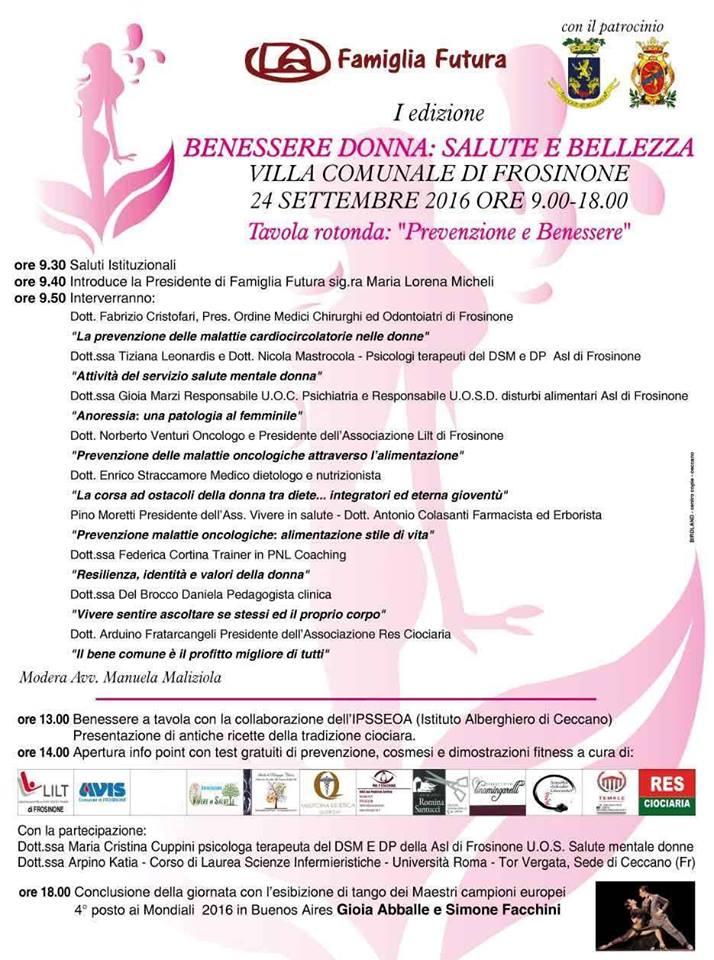I Edizione Benessere Donna Salute E Bellezza Centri Informagiovani Ciociaria